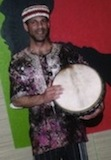 Pic of Rich with drum after performing for the Class of 2011 Graduation